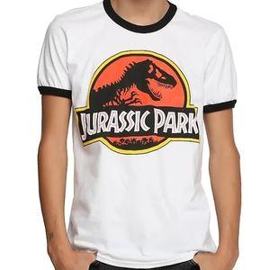 NWT HT Jurassic Park Ringer Tee Size L